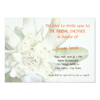 Edelweiss floral Bridal Shower Invitation card
