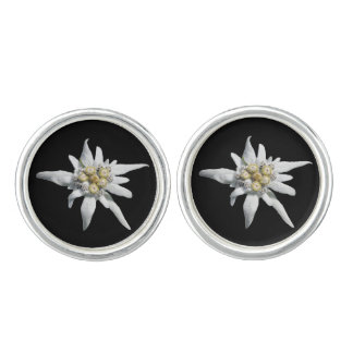 Edelweiss Flower Cuff Links