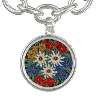 Edelweiss Swiss Alpine Flower Bracelet