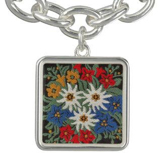 Edelweiss Swiss Alpine Flower Charm Bracelets