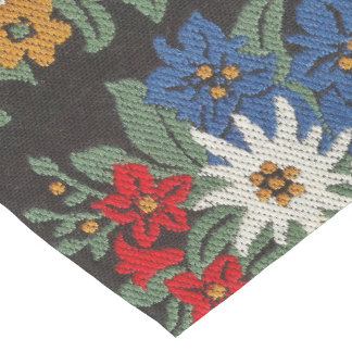 Edelweiss Swiss Alpine Flower Long Table Runner