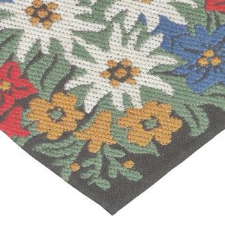 Edelweiss Swiss Alpine Flower Medium Table Runner