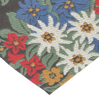 Edelweiss Swiss Alpine Flower Short Table Runner