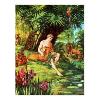Eden Adam In The Garden Postcard