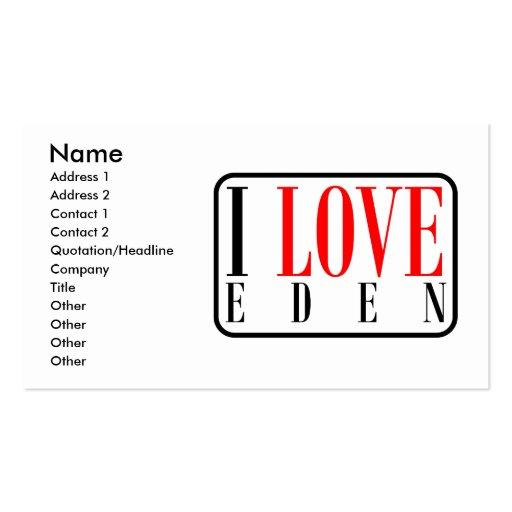 Eden, Alabama Business Card