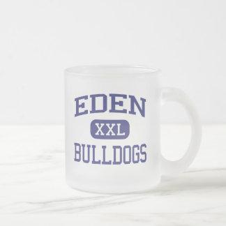 Eden - Bulldogs - Eden High School - Eden Texas 10 Oz Frosted Glass Coffee Mug