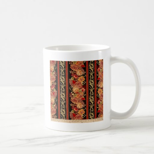 EDEN FLORAL STRIPE COFFEE MUG