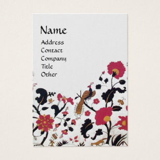 EDEN/ WHIMSICAL GARDEN ,gold metallic paper Business Card