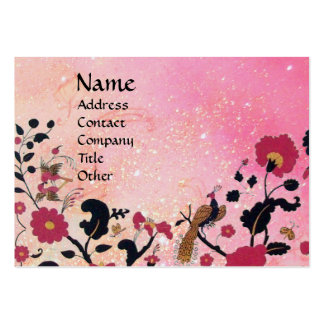 EDEN / WHIMSICAL GARDEN IN GOLD SPARKLES LARGE BUSINESS CARD