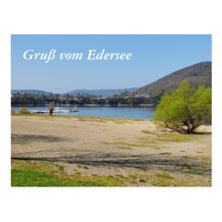 Edersee at the deer brook postcard