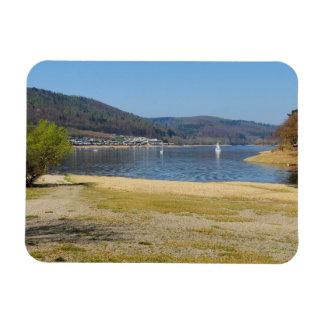 Edersee at the deer brook rectangular photo magnet