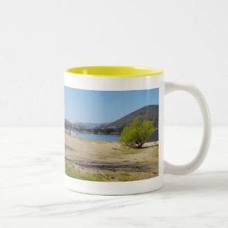 Edersee at the deer brook Two-Tone coffee mug