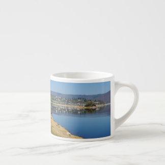 Edersee bay when bringing living espresso cup
