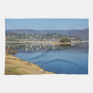 Edersee bay when bringing living kitchen towel