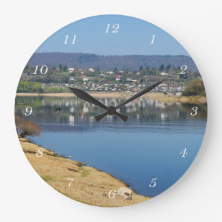 Edersee bay when bringing living large clock