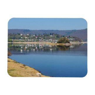 Edersee bay when bringing living magnet