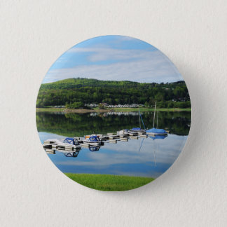 Edersee bay with separate 2 inch round button