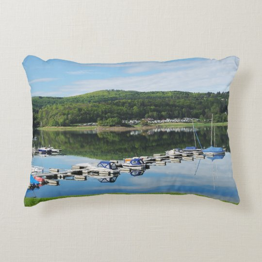 Edersee bay with separate accent pillow