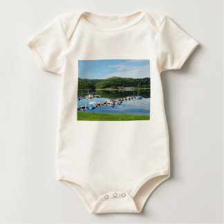 Edersee bay with separate baby bodysuit