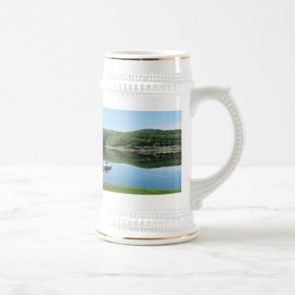 Edersee bay with separate beer stein