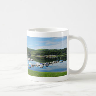 Edersee bay with separate coffee mug
