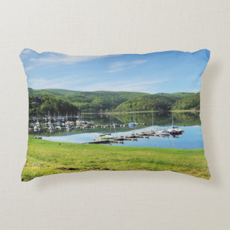 Edersee bay with separate decorative pillow