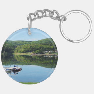 Edersee bay with separate keychain