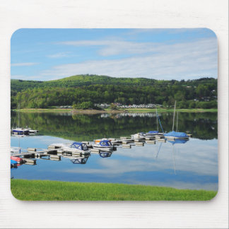 Edersee bay with separate mouse pad