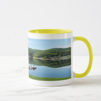 Edersee bay with separate mug