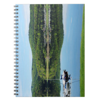 Edersee bay with separate notebook