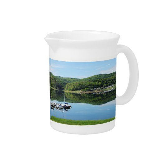 Edersee bay with separate pitcher
