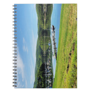 Edersee bay with separate spiral notebook