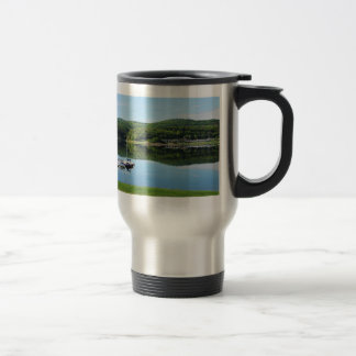 Edersee bay with separate travel mug