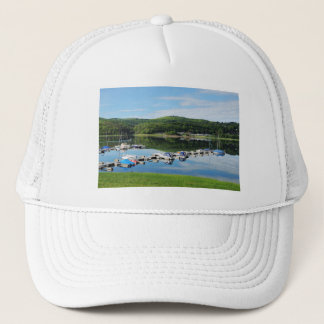 Edersee bay with separate trucker hat