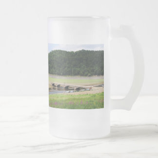 Edersee bridge of Asel Frosted Glass Beer Mug