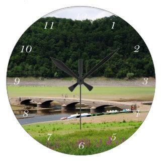 Edersee bridge of Asel Large Clock