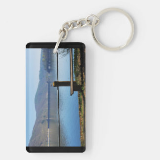 Edersee concrete dam from the water side Double-Sided rectangular acrylic keychain