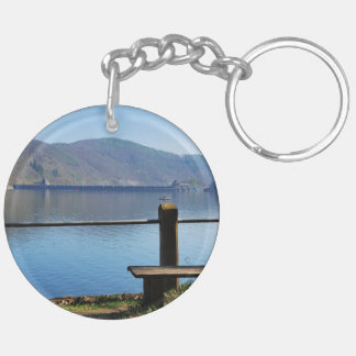 Edersee concrete dam from the water side Double-Sided round acrylic keychain