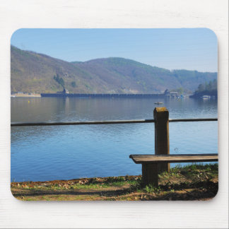Edersee concrete dam from the water side mouse pad