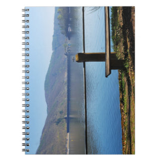 Edersee concrete dam from the water side notebook