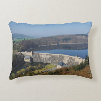 Edersee concrete dam in the spring decorative pillow