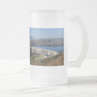 Edersee concrete dam in the spring frosted glass beer mug