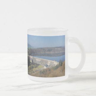 Edersee concrete dam in the spring frosted glass coffee mug