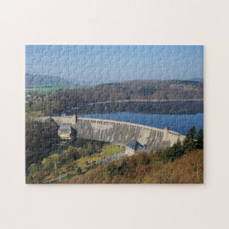 Edersee concrete dam in the spring jigsaw puzzle