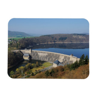 Edersee concrete dam in the spring magnet