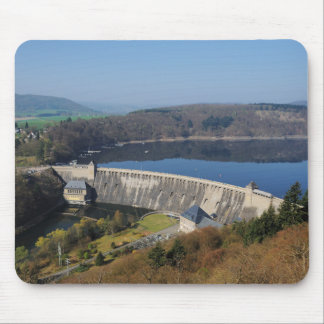 Edersee concrete dam in the spring mouse pad