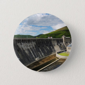Edersee concrete dam with closed forest-hits a 2 inch round button
