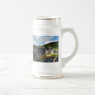 Edersee concrete dam with closed forest-hits a beer stein