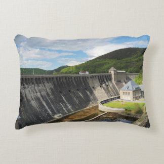 Edersee concrete dam with closed forest-hits a decorative pillow