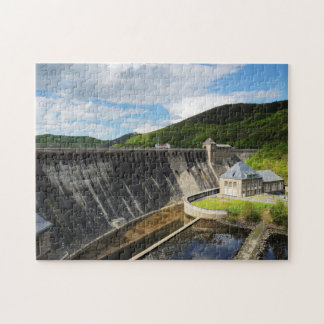 Edersee concrete dam with closed forest-hits a jigsaw puzzle